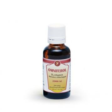 Omniferol - D3 vitamin 2000 NE narancs illóolajjal